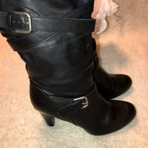 Style & Co Slouchy Criss Cross Buckle Boot - Sz 10